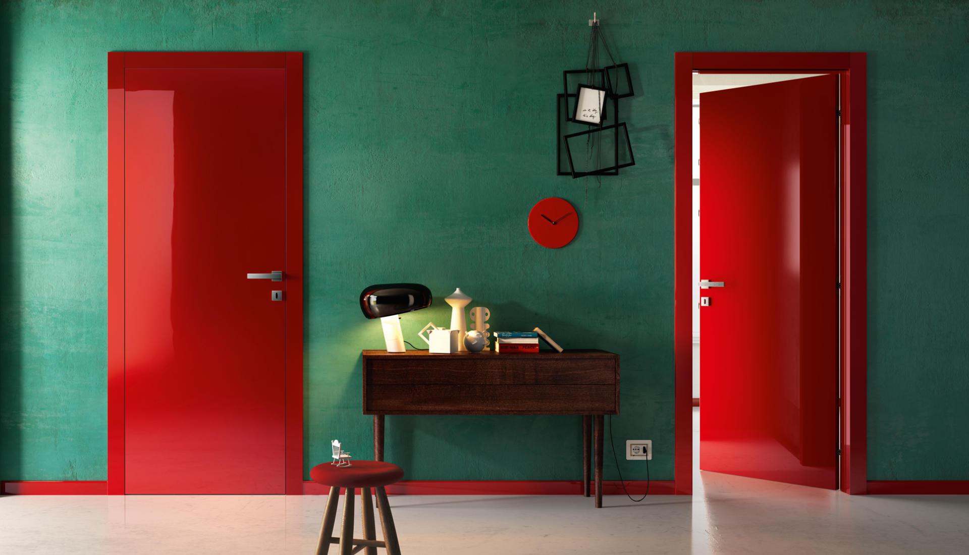Porte interne moderne e colorate